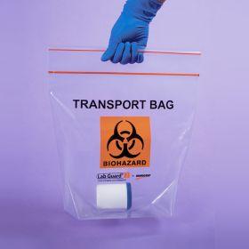 Biohazard Transport Bags, 12-3/4 x 12 x 6