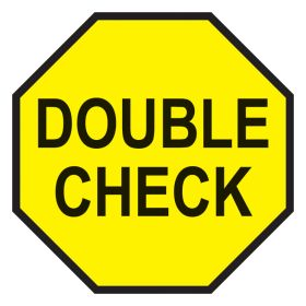Double Check Labels