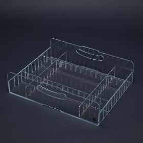 Shelf Tray with Dividers, Small