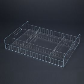 Shelf Tray with Dividers, Large
