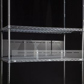 Divider System for Wire Shelving, Single-sided