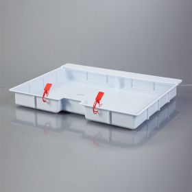 Shallow Crash Cart Box For Metro Lifeline Cart with Clear Slide-In Lid
