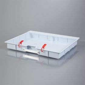 Shallow Crash Cart Box with Handle For Metro Lifeline Cart with Clear Slide-In Lid