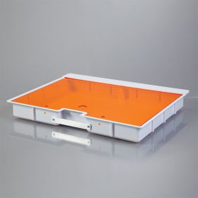 Shallow Crash Cart Box with Handle For Metro Lifeline Cart with Amber Slide-In Lid