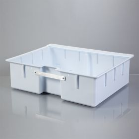 Deep Crash Cart Box with Handle For Metro Lifeline Cart with Clear Slide-In Lid