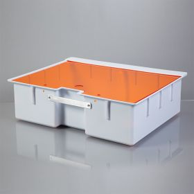 Deep Crash Cart Box with Handle For Metro Lifeline Cart with Amber Slide-In Lid