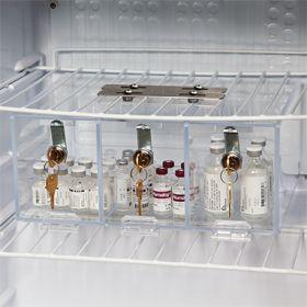 Three-Compartment Refrigerator Box with Key Lock
