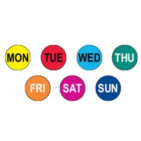 7 Days of the Week Circle Label Kit