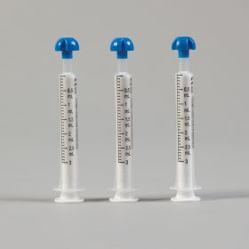 Comar  mL Only Oral Dispensers with Tip Caps, 3mL - Clear