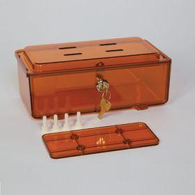 Amber Rugged Refrigerator Box, Key Lock