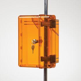 Lock-To-Pole IV Lock Box with Key Lock, Amber