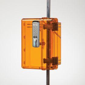 Lock-To-Pole IV Lock Box with Keyless Entry Digital Lock, Amber