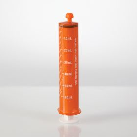 Oral Dispensers with Tip Caps, 60mL, Amber/White Markings, 25 Pack