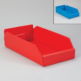 Corrugated Plastic Shelf Caddies - Red, 19827