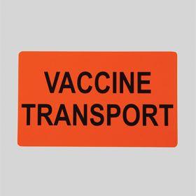 Vaccine Transport Label 19893