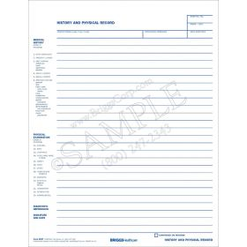History and Physical Record Form