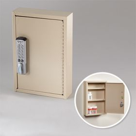 Slim-Line Narcotic Cabinet with Keyless Entry Digital Lock, 8x12x2