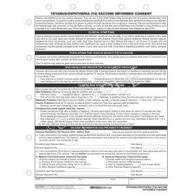Tetanus/Diphtheria (TD) Vaccine Informed Consent