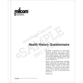 Milcom Health History Questionnaire
