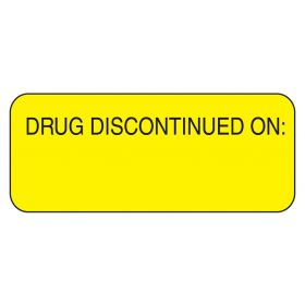 Drug Discontinued On Labels