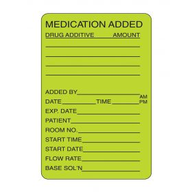 "Medication Added Labels 2-3/4""H x 1-3/4""W"