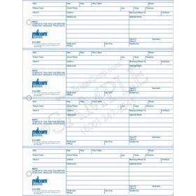 Milcom Telephone Message Forms