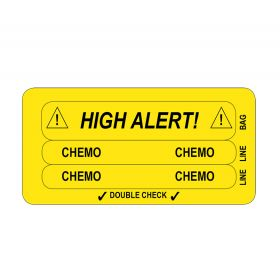 IV Line Tracing Piggyback Labels, Chemo