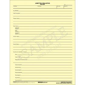 Admitting Evaluation History Form