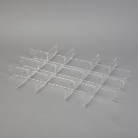 Clear Acrylic Divider Set for Shallow Crash Cart Boxes