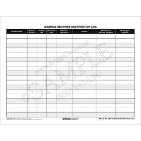 Medical Record Destruction Log