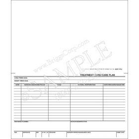 Treatment Card / Care Plan Form - 3209