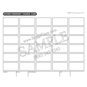 Patient/Resident Charge Card Label Form - 8 1/2 x 11