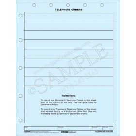 Telephone Orders Mount Sheet 3246P