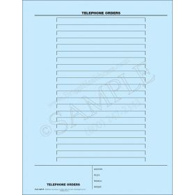 Telephone Order Mount Sheet
