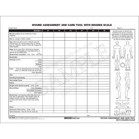 Wound Assessment and Care Tool with Braden Scale