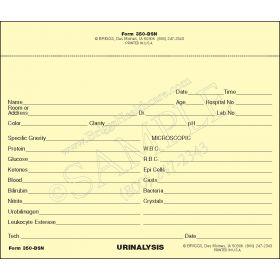 Urinalysis Laboratory Report Slip