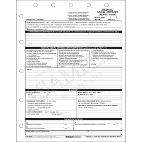 Medical Social Services Revisit Note Form