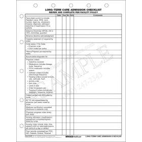 Long-Term Care Admission Checklist 3612P