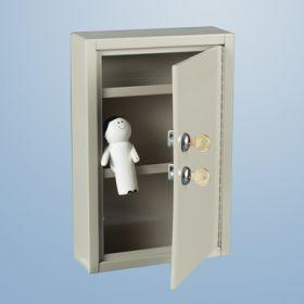 Slim-Line Narcotic Cabinet, 2 Locks, 1 Door, 8x12x2