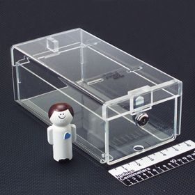 Small Locking Refrigerator Storage Box, Acrylic