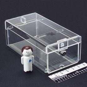 Small Locking Refrigerator Storage Box, Acrylic