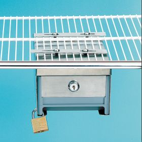 Small Locking Refrigerator Storage Box, Stainless Steel - 3726
