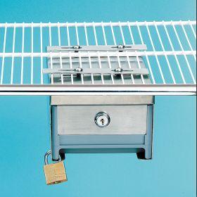 Small Locking Refrigerator Storage Box, Stainless Steel - 3726
