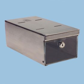 Small Locking Refrigerator Storage Box, Stainless Steel - 3735