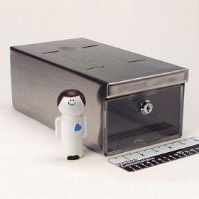 Small Locking Refrigerator Storage Box, Stainless Steel - 3736