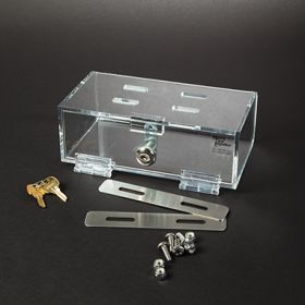 Hinged-Door Locking Refrigerator Box, Compact, Single-Lock
