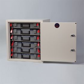 Six-Shelf Narcotic Cabinet, 2 Locks, 1 Door