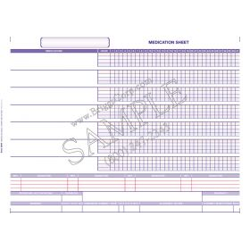 Accu-Care Clinical Software Medication Sheet Form