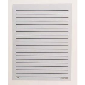 Bold Line White Paper lines Double Sided