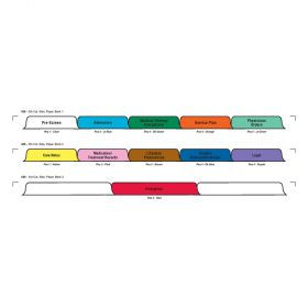 Chart Divider Set - Paper - Assisted Living - 11 Tabs Side